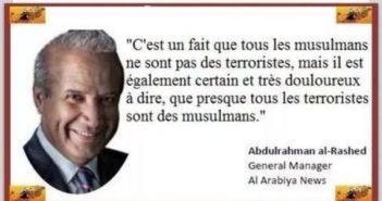 « Tous les musulmans ne sont pas des terroristes, mais tous les terroristes sont musulmans »