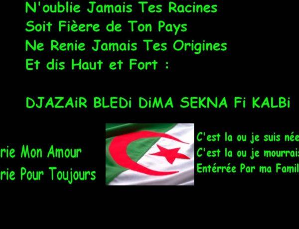 Je suis Algérien Libre et Fier